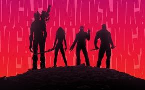 Picture Rocket, Zoe Saldana, Peter Quill, Star-Lord, Guardians of the Galaxy, Gamora, Groot, Chris Pratt, Drax