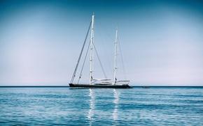 Picture sea, yacht, The Mediterranean sea, Mediterranean Sea