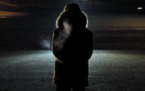 Picture night, photo, silhouette