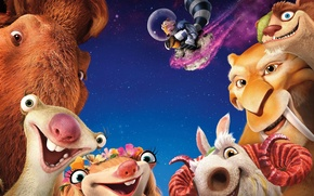 Picture cartoon, poster, 2016, Ice Age: Collision Course, Ice age:a collision is imminent