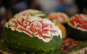 Wallpaper patterns, watermelon, dessert