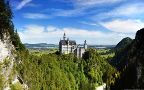 Wallpaper Germany, Germany, Neuschwanstein Castle, Bavarian Alps, The Bavarian Alps, Neuschwanstein Castle