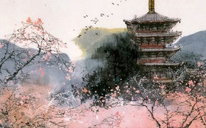 Picture Pagoda, Painting, Characters