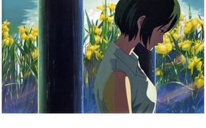 Picture Park, profile, gazebo, irises, kotonoha no niwa, garden of fine words, the load was the …