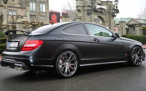 Picture Black, Mercedes, Car, 2012, Car, Black, Coupe, Wallpapers, v12, Matt, Wallpaper, Bullet, Mate, Bullit, BRABUS