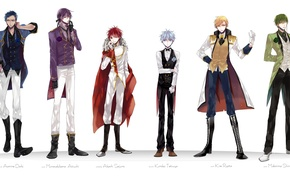 Picture butterfly, rose, ring, costume, tie, gloves, Prince, cloak, vest, Kise Ryouta, Kuroko Tetsuya, kuroko's basketball, …