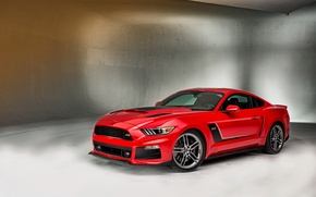Picture Mustang, Ford, Mustang, Red, Ford, krsno, Roush, 2015, Stage 3