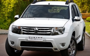 Picture white, Renault, the front, Reno, crossover, Duster, duster, compact