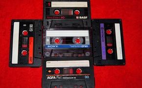 Picture style, retro, background, items, nostalgia, audio tapes, film