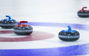 Picture stones, sport, the game, two, home, blur, sports, Curling, team, bokeh, target, background., shells, special, …