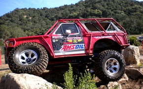 Picture stones, SUV, overcoming, Trak-trial, obstacles