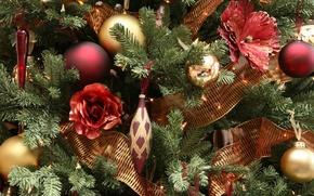 Wallpaper toys, tree, new year, winter