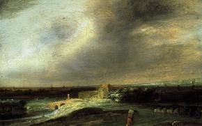 Picture landscape, nature, picture, Panoramic Landscape, Koninck Philips