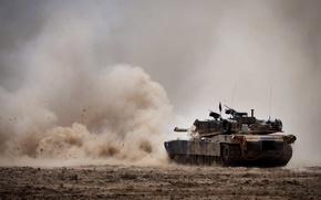 Picture shot, tank, M1A1 Abrams