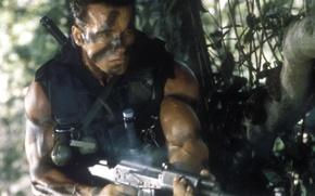 Wallpaper Kalash, Commando, soldiers, Arnold Schwarzenegger, Arnold Schwarzenegger, John Matrix, Commando
