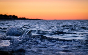 Picture sea, wave, water, macro, nature, river, background, the ocean, widescreen, Wallpaper, wave, the evening, wallpaper, …