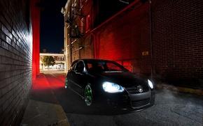 Picture black, volkswagen, Golf, golf, Black, Volkswagen, stance, MK5