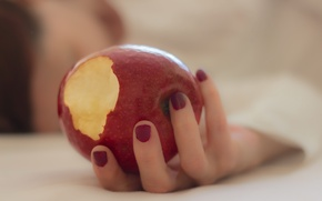 Picture background, Apple, hand