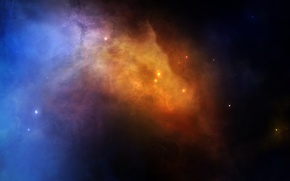 Picture stars, nebula, glow, nebula