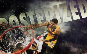 Picture basketball, NBA, dunk, Indiana Pacers, Paul George, posterize