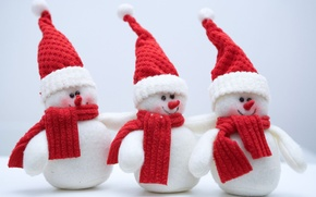 Wallpaper cold, winter, snow, holiday, new year, snowmen, new year, holiday