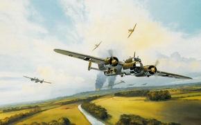 Picture bomber, German, Mark, Battle of Britain, raid, Postlewhaite, aviation battle, World War II, Battle of …