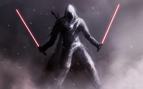 Picture weapons, star wars, assassin's creed, Sith, lightsabers, star wars
