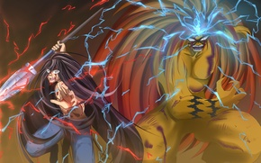 Picture demon, fire, flame, game, tiger, anime, general, boy, energy, assassin, asian, warrior, manga, japanese, oriental, ...