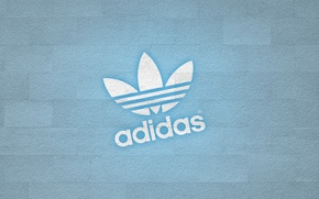 Wallpaper logo, adidas, wall