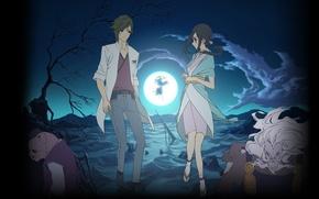 Picture From the new world, Saki Watanabe, Shinsekai Yori, Satoru Asahina, SQUIER, Kuromaru
