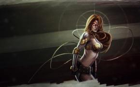 Picture girl, hero, Angela, marvel comics, Aldrif Odinsdottir