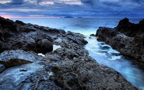 Wallpaper sea, landscape, mountains, nature