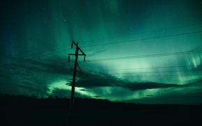 Picture the sky, night, Canada, Lights