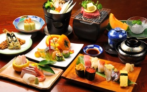 Picture food, fish, Japan, kitchen, sushi