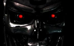 Picture eyes, robot, terminator, Terminator, t-800