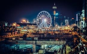 Picture Hong Kong, horizon, China, Ferris wheel