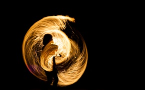 Picture fire, juggling, effect of light