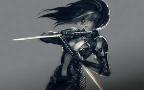 Picture weapons, swords, Kelvie, girl