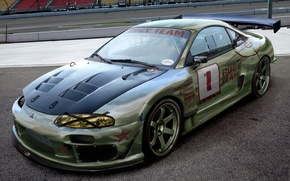 Picture Mitsubishi, Car, Tuning, Wheels, Rugy Team, Eclips