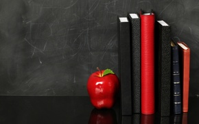 Picture background, red, Apple, shelf, diaries