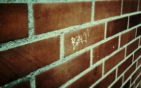 Picture wall, grafiti, brickwork