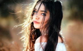 Picture the wind, hair, cute girl, Andrea, Gustavo Terzaghi