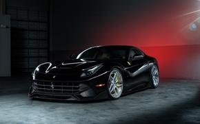 Picture Ferrari, Power, Front, Black, Supercar, Berlinetta, F12, Wheels, ADV.1, Ligth