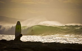 Picture wave, beach, squirt, the ocean, Board, surfing, surfing