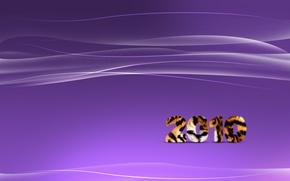 Wallpaper wave, purple, line, tiger, strip, new year, 2010
