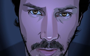 Picture the film, cyberpunk, Keanu Reeves, movie, film, Keanu Reeves, Blurred, A Scanner Darkly, animated feature, …