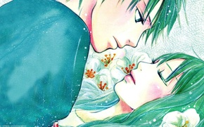 Wallpaper flowers, romance, figure, art, two