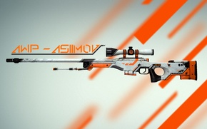 Wallpaper skin, asiimov, global offensive, awp, counter strike, cs:go