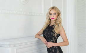Picture look, face, background, model, makeup, dress, Ekaterina