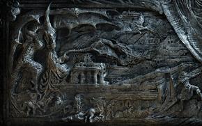 Picture fantasy, dragon, the elder scrolls skyrim magician dragon fantasy